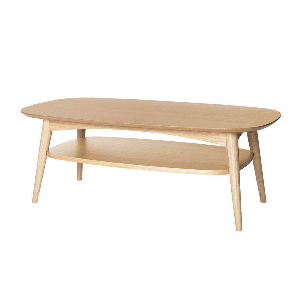 Mia Coffee Table With Shelf Oak Coffee Table With Shelf Solid