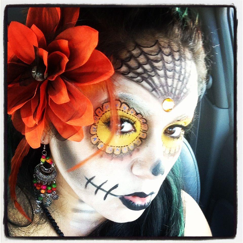 Dia de Los Muertos makeup - Dia de los Muertos | Pinterest