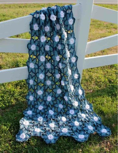 Starlit Floral Afghan Crochet Pattern | Colchas