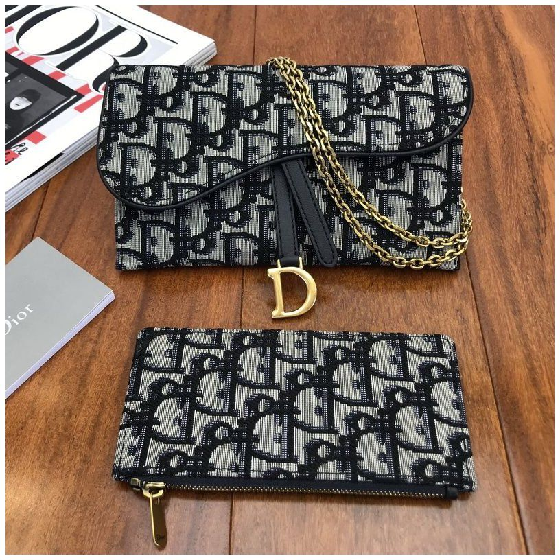 Dior Saddle Wallet On Chain Bag Woc In Blue Dior Oblique Jacquard Canvas Dior Wallet On Chain Oblique P Dior Saddle Bag Dior Wallet Dior Wallet On Chain