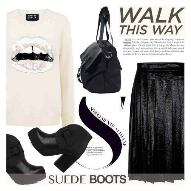 """""""Style Staple: Suede Boots"""" by ifchic ❤ liked on Polyvore featuring Miista, Markus Lupfer, MARIOS, contestentry, suedeboots and ifchic"""