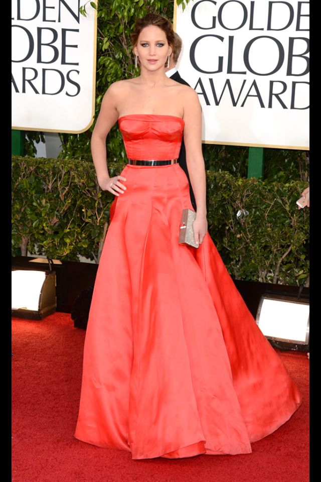 Jennifer Lawrence in Dior Haute couture 2013 Golden Globes ...