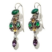 Nicky Butler Chrysocolla and Gem Drop Earrings