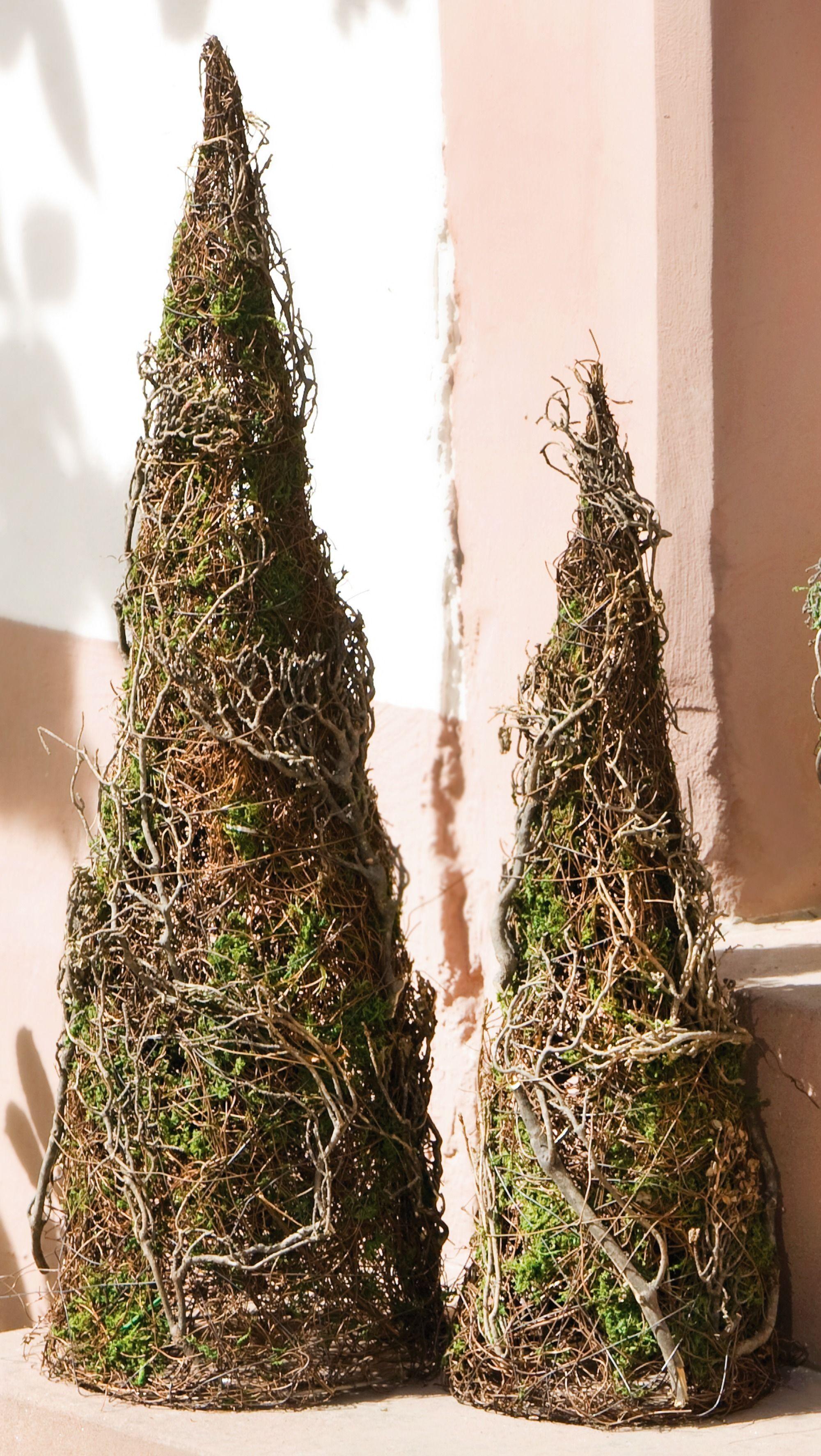 deko kegel moos 2er set wohnambiente shop herbst. Black Bedroom Furniture Sets. Home Design Ideas