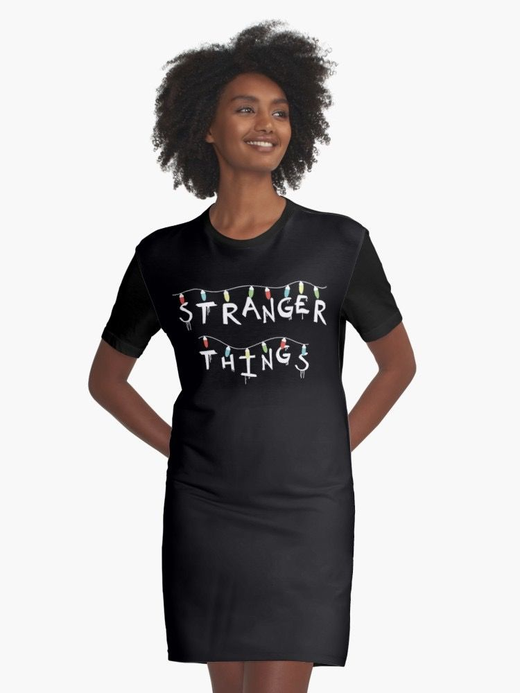 STRANGER THINGS LIGHTS (white) | Graphic T-Shirt Dress | Stranger ...