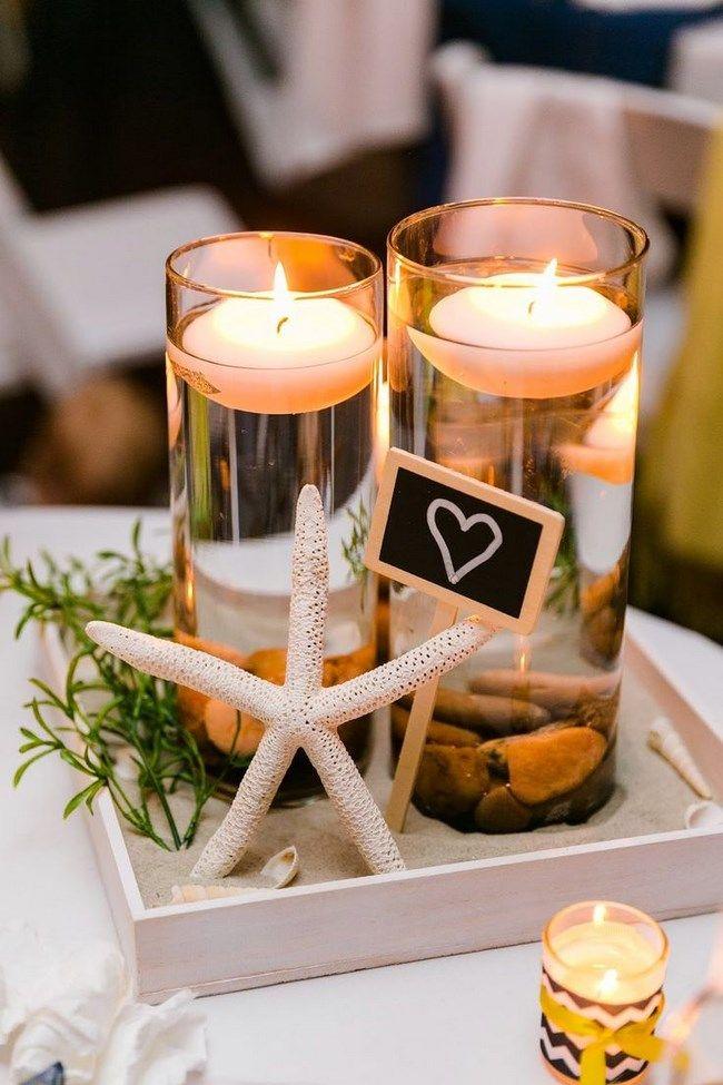 centros de mesa para bodas en la playa centros de mesa