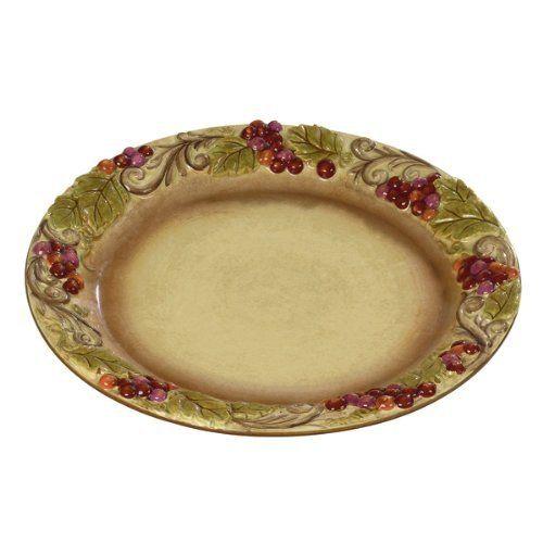 Grasslands Road Vineyard Grape Cluster 11 Inch Dinner Plate With