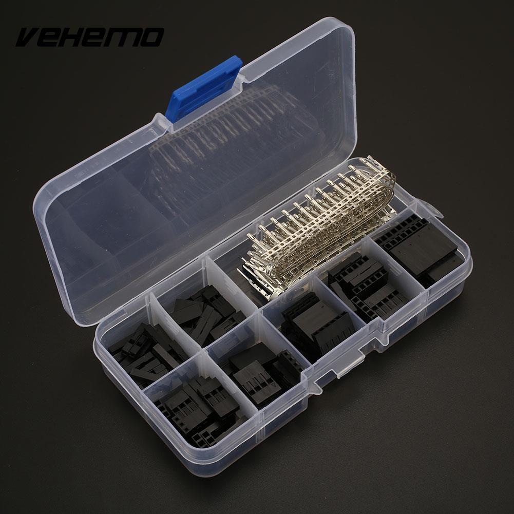 310pcs 2.54mm Male Female Jumper Wire Pin Header Connector Housing Kit Electronics Set Jumper Header