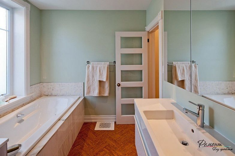 5 Panel Bathroom Doors For Small Spaces With Clear Glass