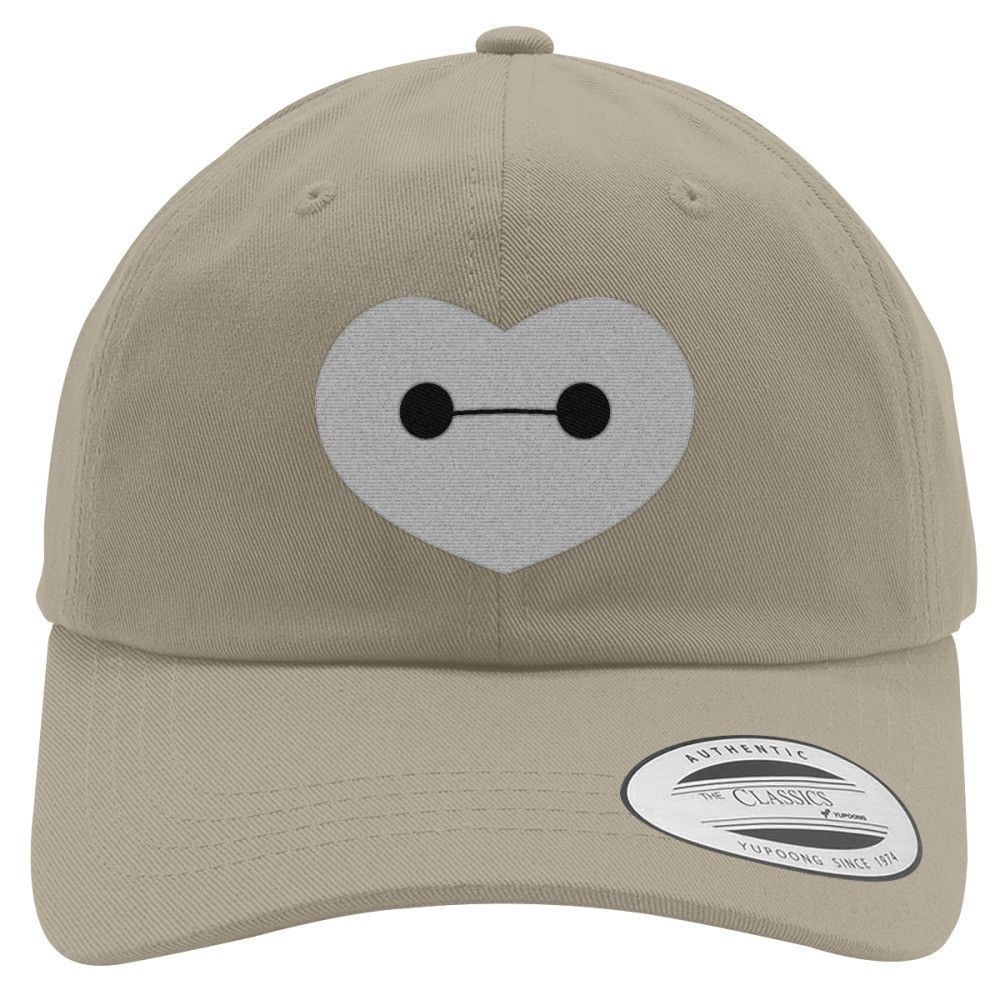 Big Hero 6 - Baymax Shaped Heart Embroidered Cotton Twill Hat