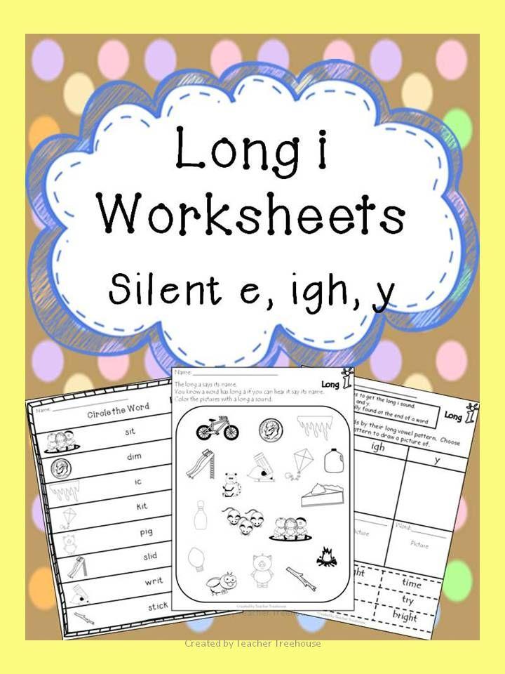 Long I Worksheets Silent E Igh Y Pinterest Worksheets