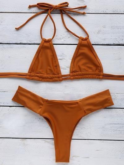 Naranja Cabestro Bikini Bikinis Ropa De Playa Trajes De Bano
