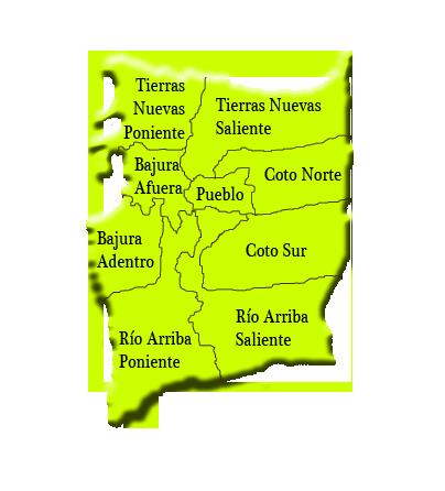 Barrios of Manatí, Puerto Rico