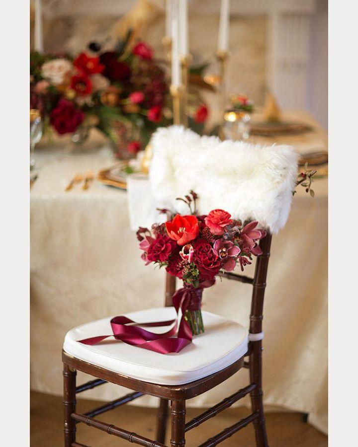 White fun fur chair back cover ~ we ❤ this! moncheribridals.com