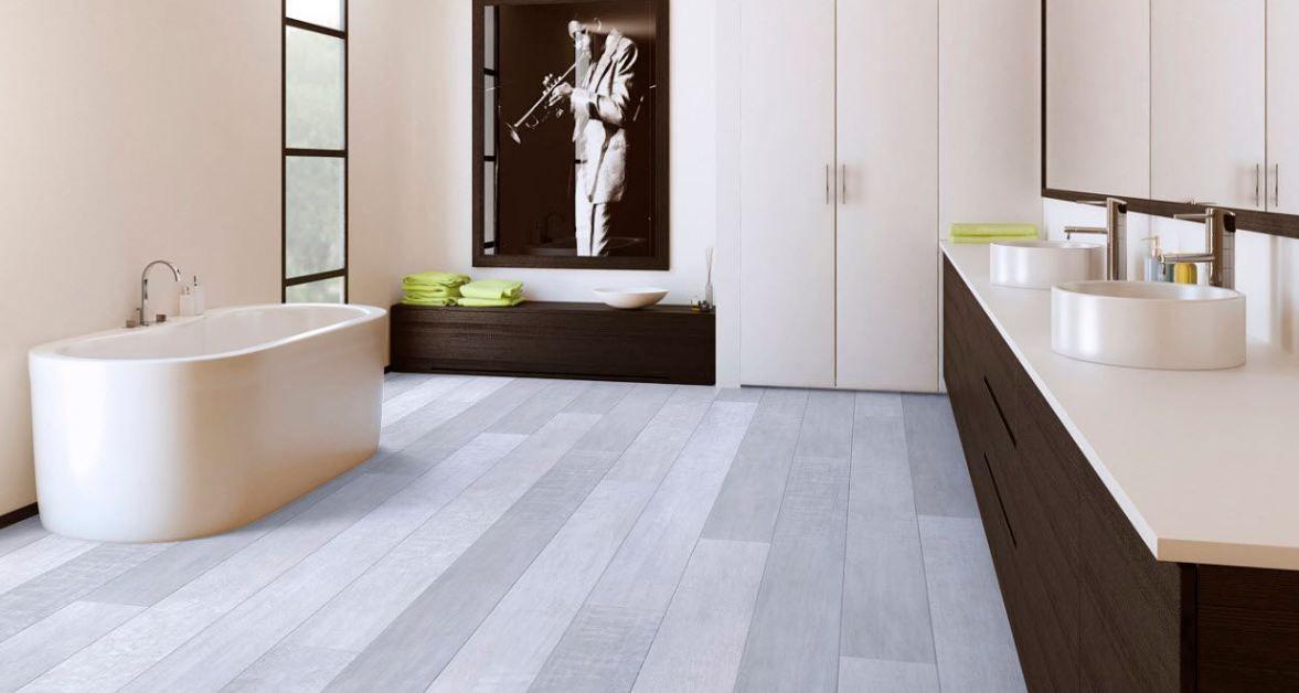 Gray Laminate Flooring for kitchen