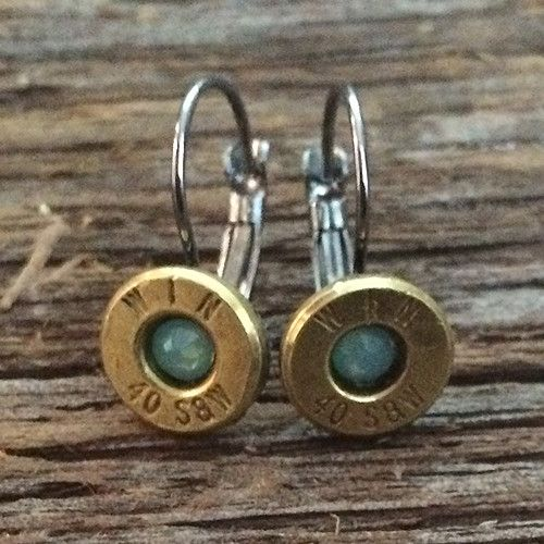Misty Turquoise Collection 40 Caliber Earrings with Turquoise Swarovski Crystals