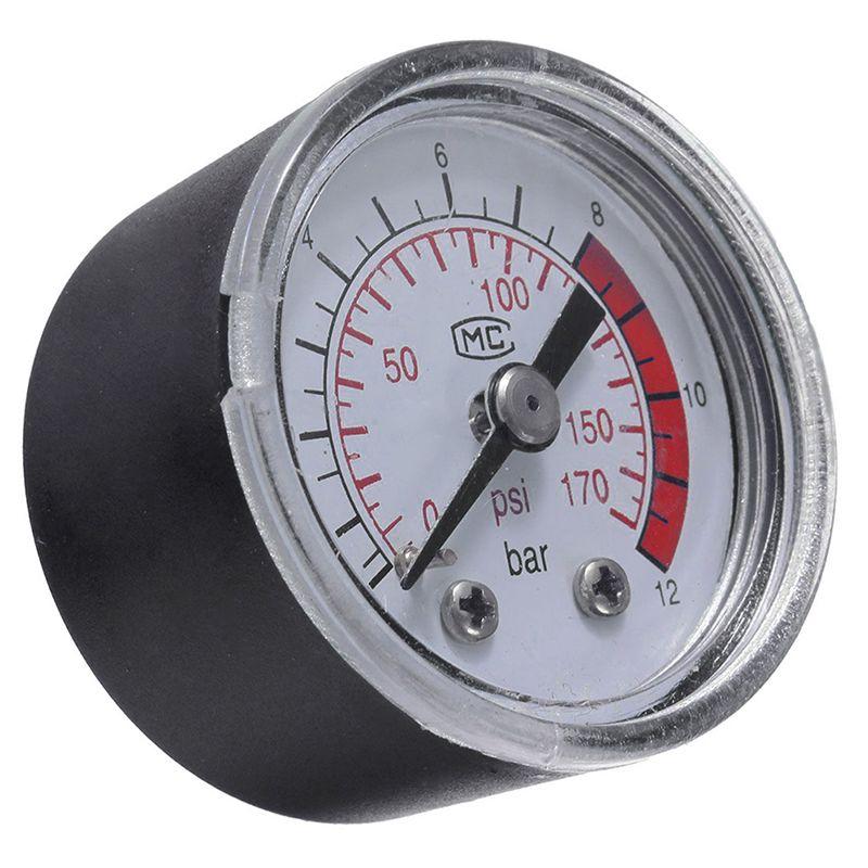Air Compressor Pneumatic Hydraulic Fluid Pressure Gauge 0 12bar 0 170psi L057 New Hot Hydraulic Fluid Air Pressure Compressor
