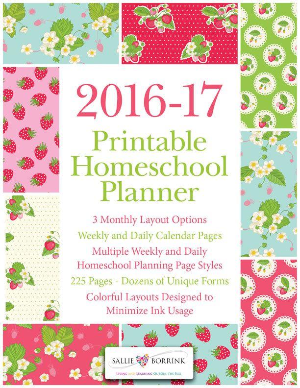 editable homeschool planner 2018 2019 academic year strawberries