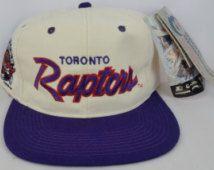 1928e41fc48 Toronto Raptors Vintage Snapback Starter Sports Specialties Logo Athletic  The Game Logo7 Pro Line Sharktooth Splash Script Rare Hat Cap