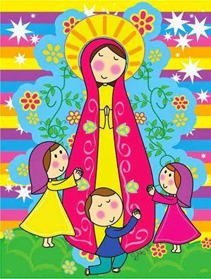 El Blog Del Padre Eduardo Mes De Mayo Mes De Las Flores Mes De Maria Virgen Caricatura Imagenes De La Virgen Virgencita De Guadalupe Caricatura
