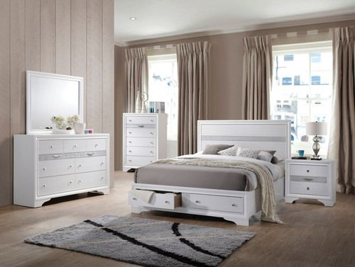 Best 4 Pc Acme Furniture Naima Queen Size Bedroom Set 25770Q 400 x 300