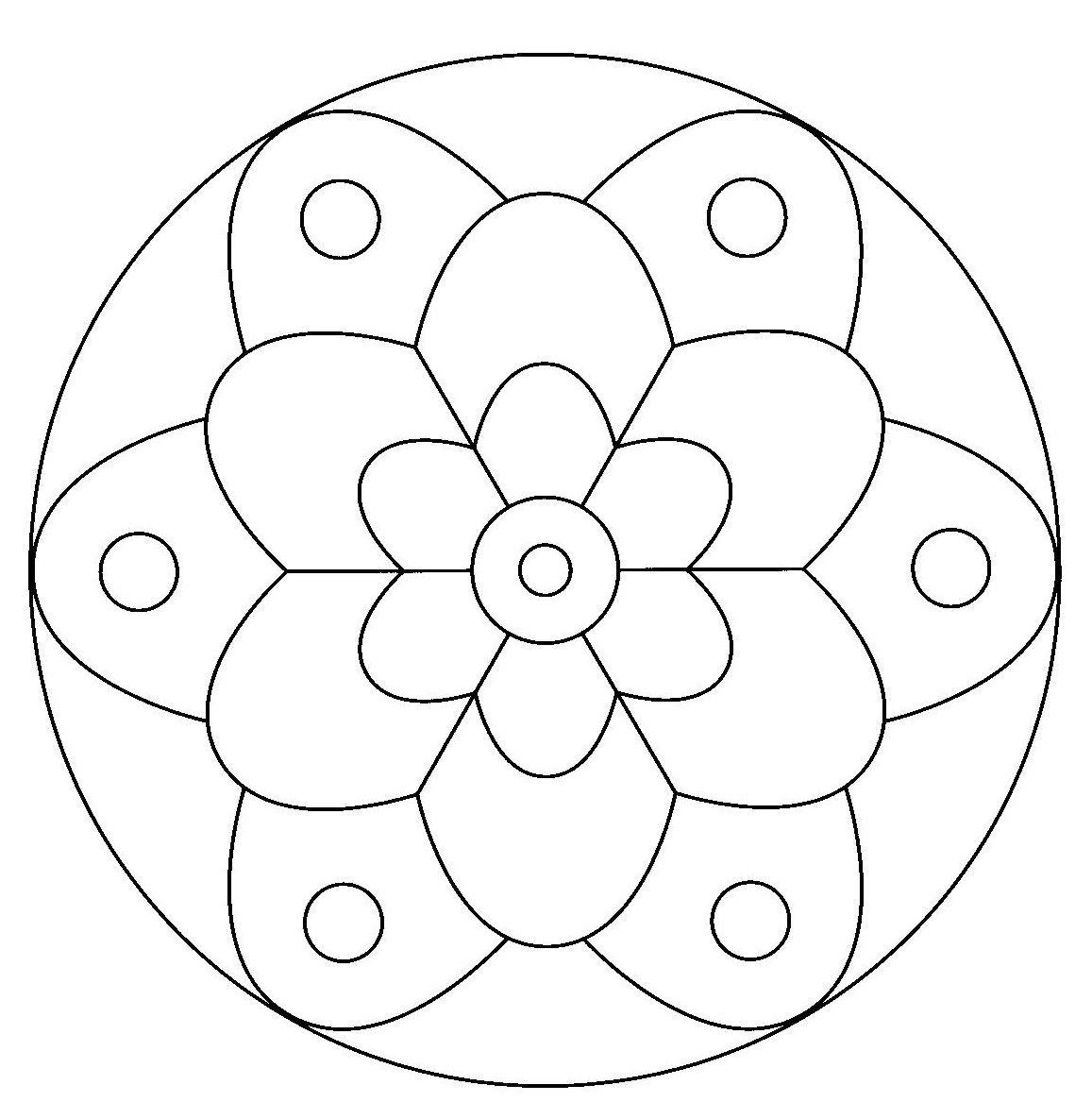 Mandalas Para Pintar Imprimir Y Colorear A Través De Las