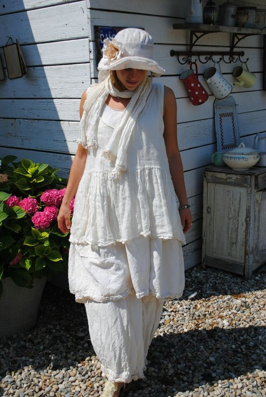 Shabby white clothes