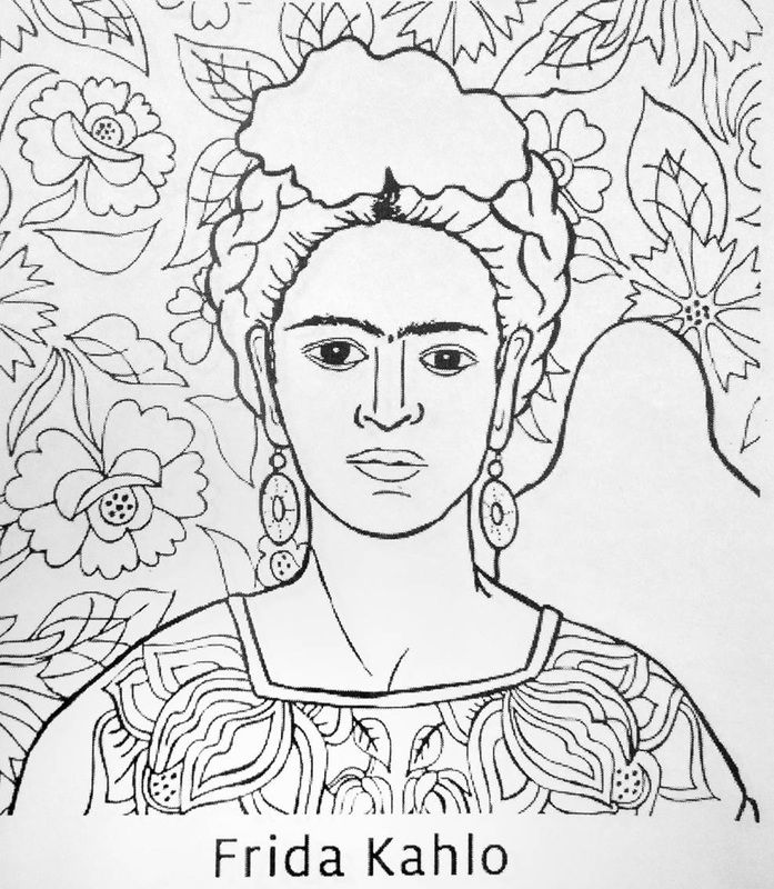 Diego rivera coloring pages frida kahlo coloring pages