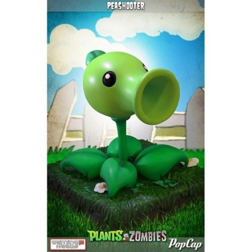 """Plants vs Zombies Peashooter 9/"""" Statue NEW Gaming Heads"""