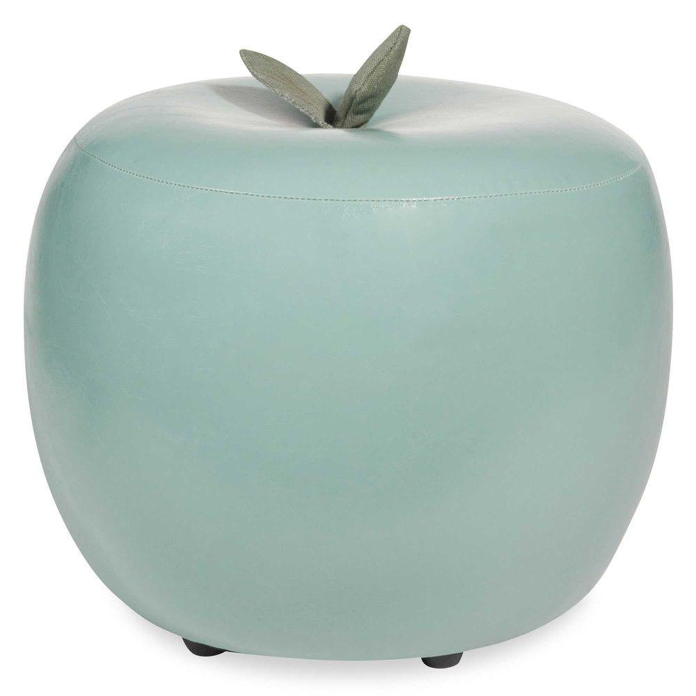 pouf pomme vert menthe mint vintage pinterest vert menthe deco et vert. Black Bedroom Furniture Sets. Home Design Ideas