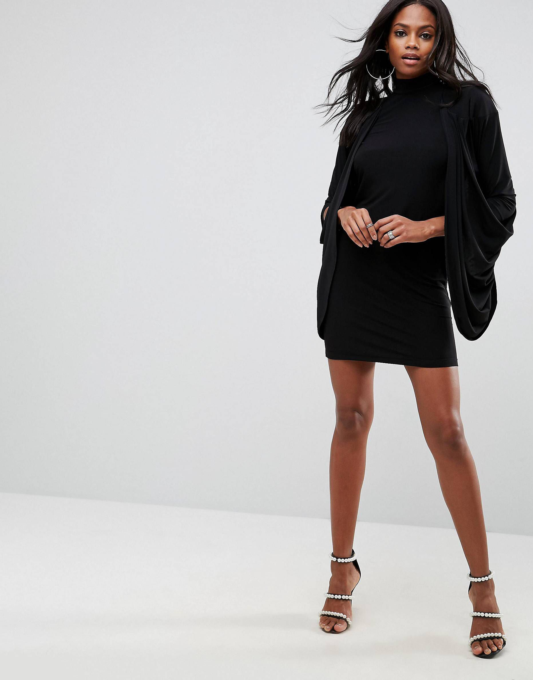 Love This From Asos Draped Dress Fashion Dresses [ 2377 x 1863 Pixel ]
