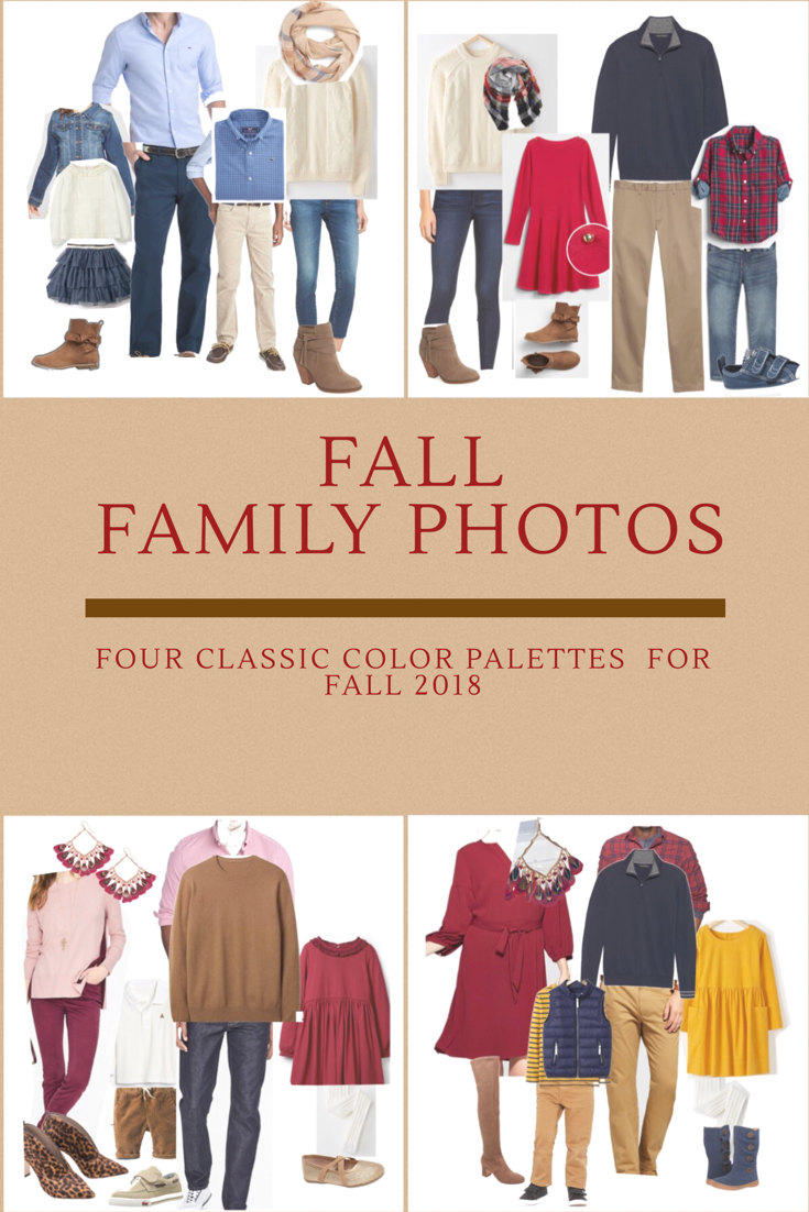 Fall Family Photo Outfits- check out 4 classic color palettes that have clothing options for Mom, Dad, Little Girl, Little Boy and Baby! All Items available in Fall 2018 but will look amazing for years.  . . . . #familypictures #familyphotoshoot #familyphotography #family #familyphotos #familylife #familyphotographer #familysession #familyphotosession #familyportrait #familyportraits #falloutfits #holidayoutfits #holidaycards #holidayfamilyphotos #familyphotooutfits