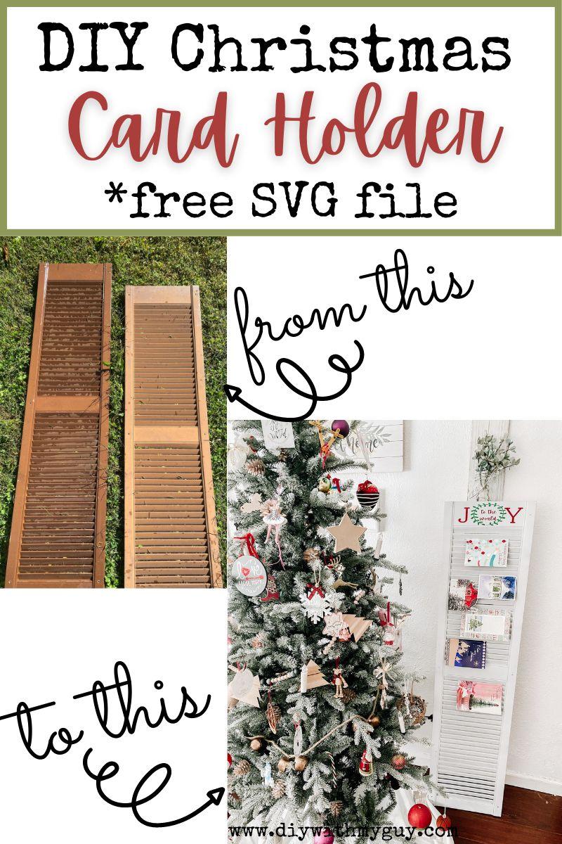 Diy Christmas Card Display Holder Christmas Card Display Diy Christmas Cards Christmas Card Holder Display