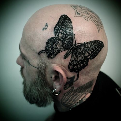 large-grey-butterfly-tattoo-on-head-for-men.jpg 500×500 piksel