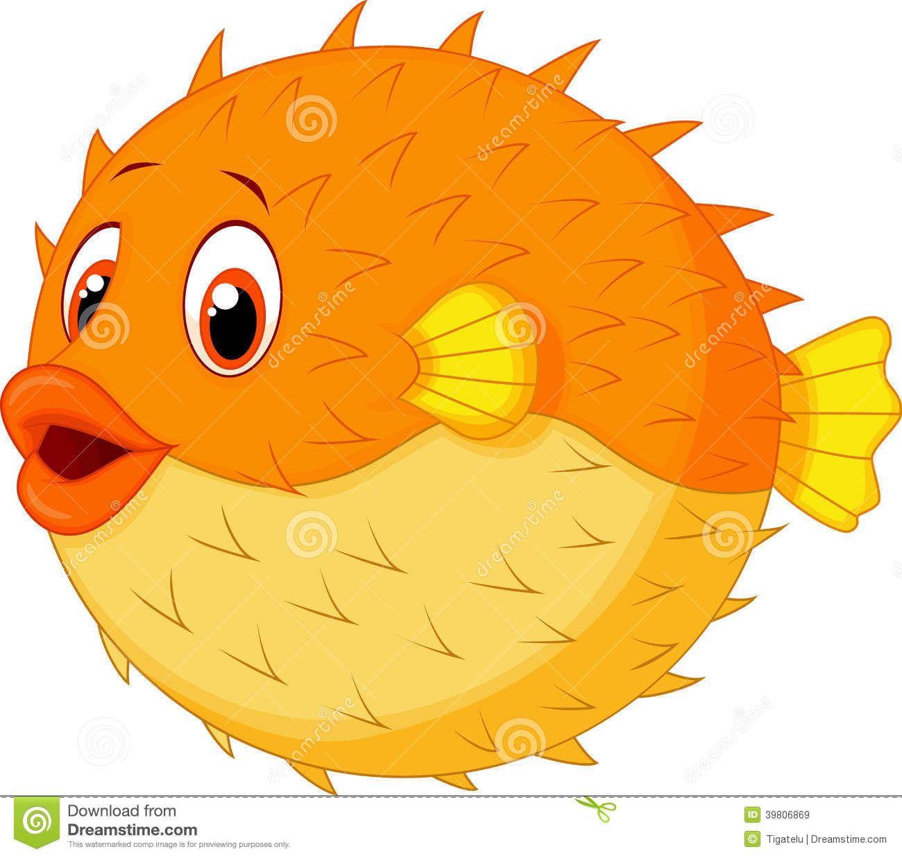 Illustration About Illustration Of Cute Puffer Fish Cartoon Illustration Of Cute Avatar Comic 3980686 Cartoon Fish Cartoon Sea Animals Puffer Fish Cartoon