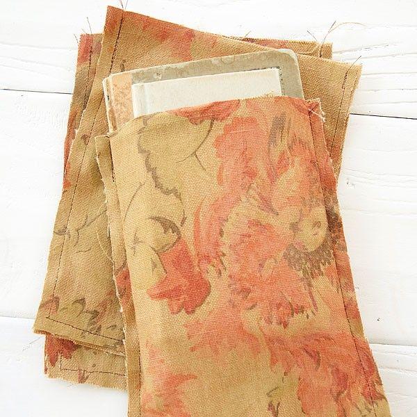 "Handmade by Somerset Medium Fabric Bag - Rustic Flowers 5 x 7"""