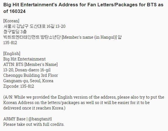 How To Send Fanmail To Bts Army S Amino Bts Members Names Bts Fans Bts