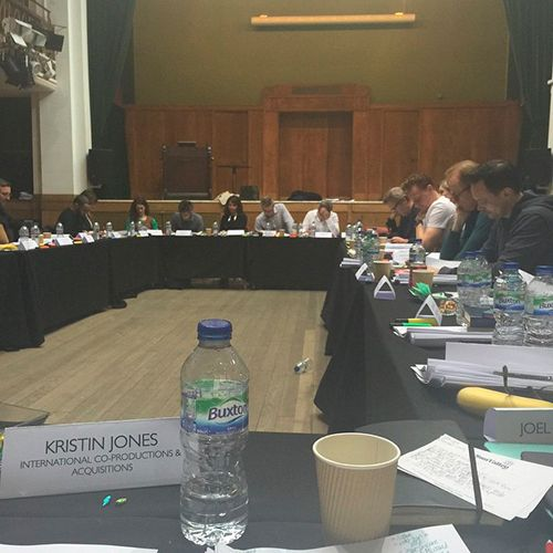 Kristin Jones: Night manager read through in London yesterday. Coming to AMC in 2016!!!. Instagram: https://instagram.com/p/0IzLvszWsx/