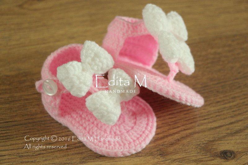 Crochet Bebé EditamhandmadeGiày Sandalias Por Gladiador j54RAL