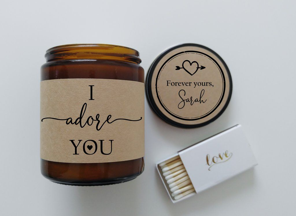 I adore you romantic gift i love you gift for boyfriend