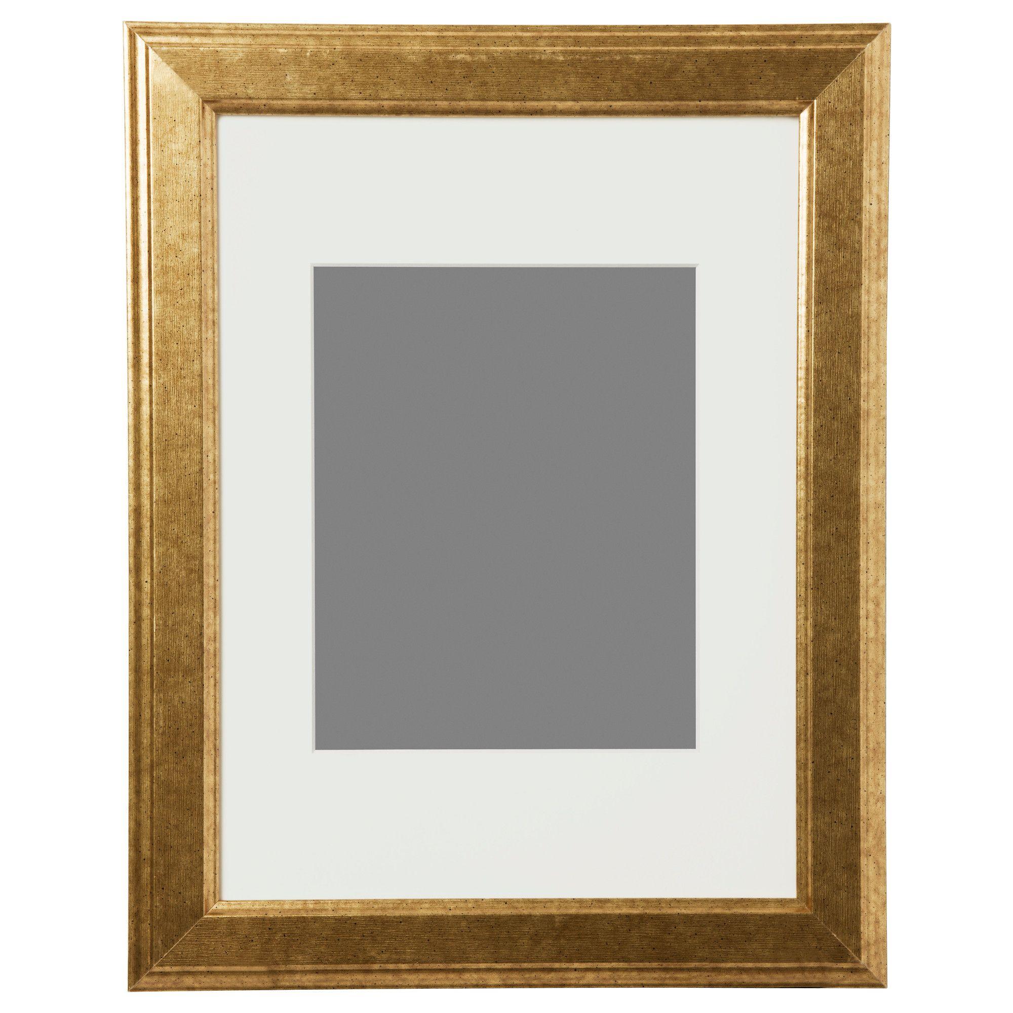 $12.99 VIRSERUM Frame - gold-colour - IKEA   Condo List   Pinterest