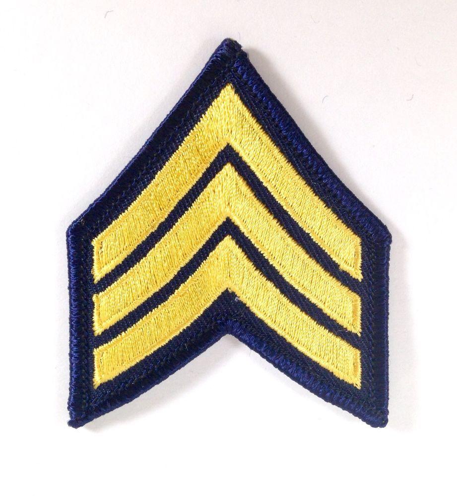 Chevron patches military army police rank 3 stripes
