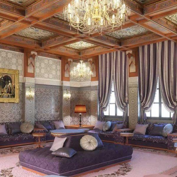 super salon marocain r alisation du talentueux cabinet d. Black Bedroom Furniture Sets. Home Design Ideas