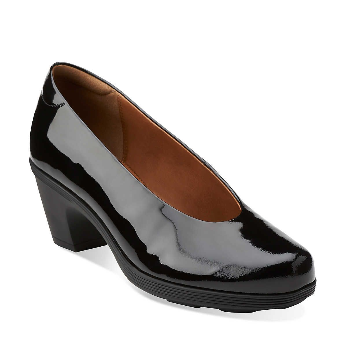Brigita divine in black patent leather womens shoes from