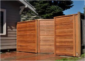 horizontal wood privacy fence panels