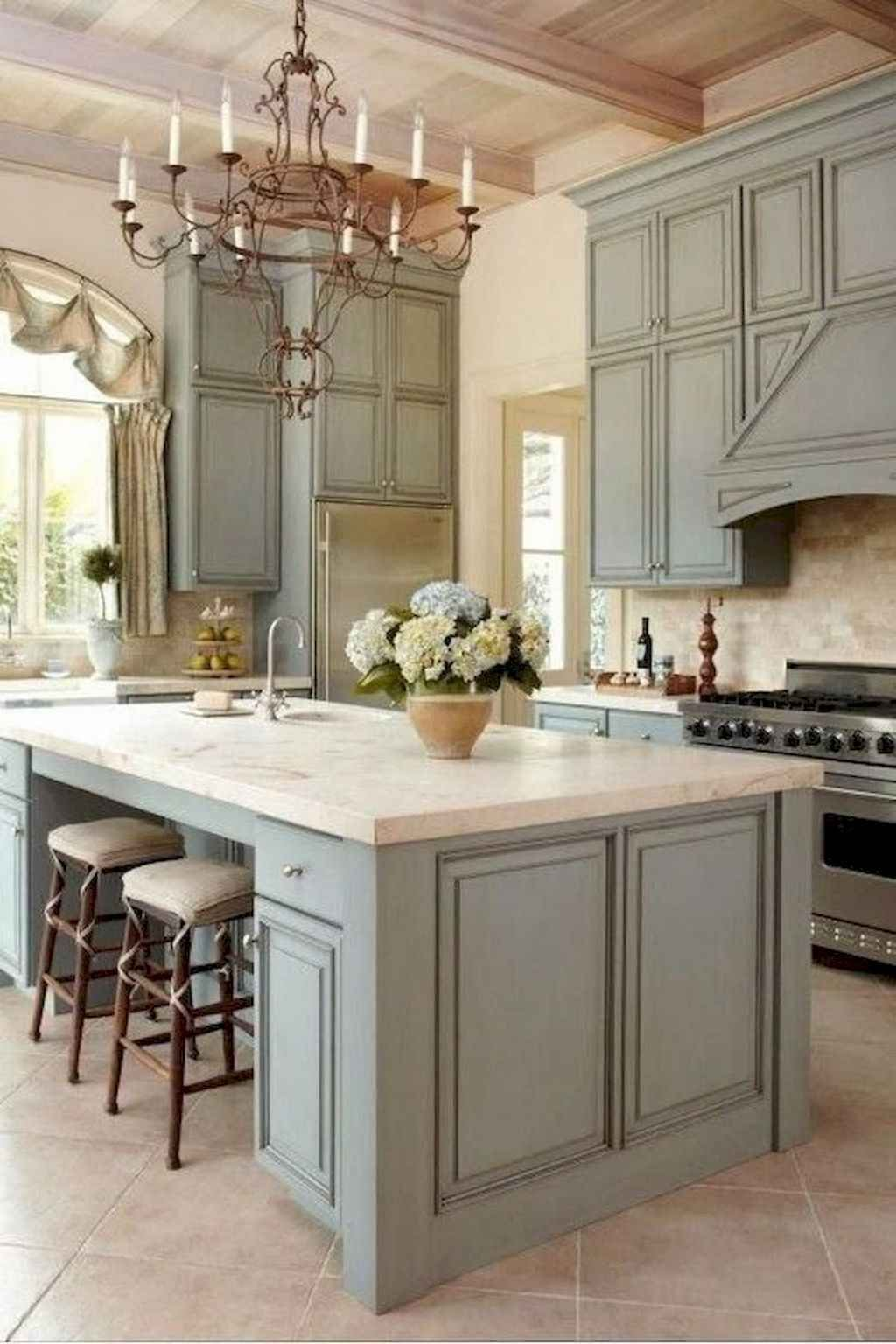 65 Beautiful Farmhouse Kitchen Cabinet Makeover Design Ideas