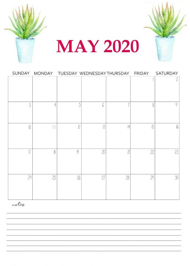 Printable May 2020 Wall Calendar Printable Calendar Template