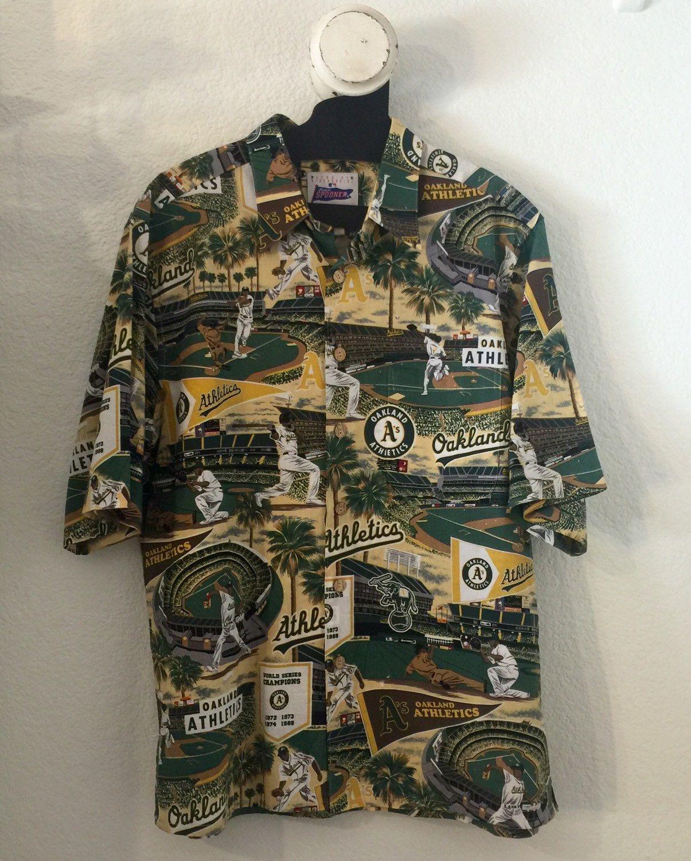 f29d2095 Vintage Reyn Spooner Oakland A's Fan Aloha Hawaiian Shirt Size Large by  IveGoneModVintage on Etsy