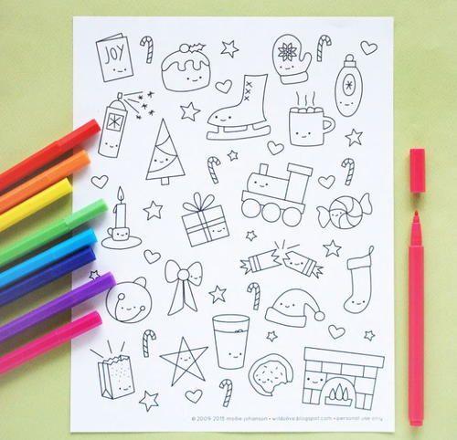 Kawaii Christmas Coloring Pages Kawaii Christmas Christmas Coloring Pages Christmas Colors