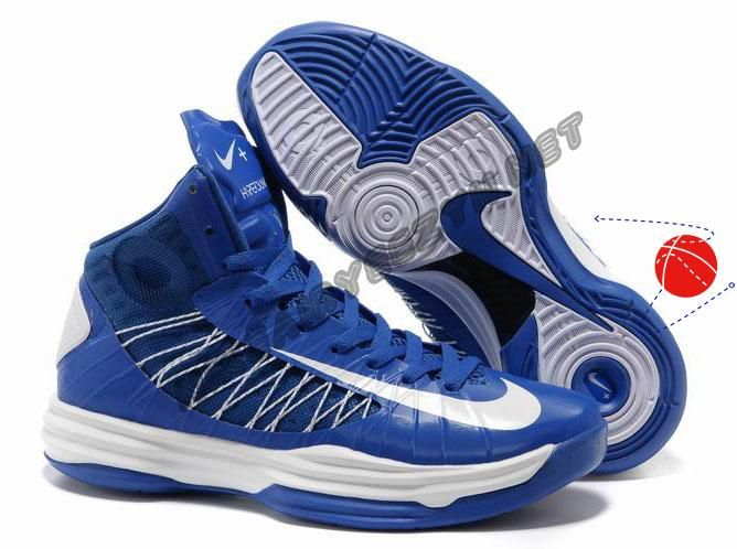 Wholesale Cheap Nike Lunar Hyperdunk 2013 Game Royal White Men's Basketball  Shoes For Sale